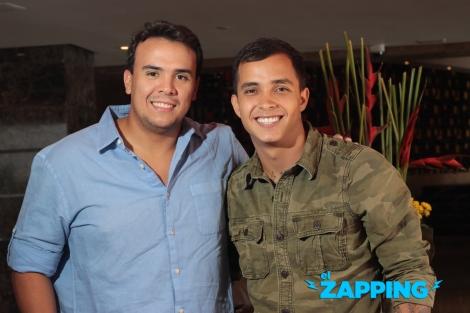 Sixto Rein junto a su manager Juan Pablo Fereira