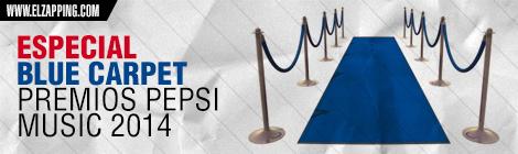 blue carpet premios pepsi music 2014