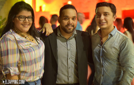 Aura Ortega, Gerardo Carrizo y Héctor Palmar.