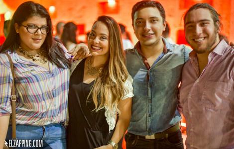 Aura Ortega, Indira Baron, Héctor Palmar y Leandro Morán.